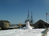 The cusp of spring at Salem Harbor (winter intospring)